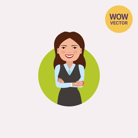 Smiling businesswoman with hands crossed