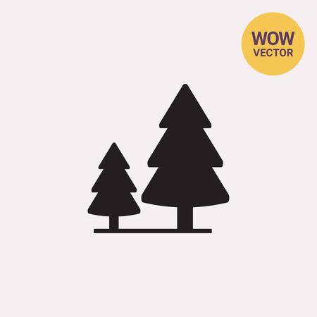 softwood: Softwood forest sign Illustration