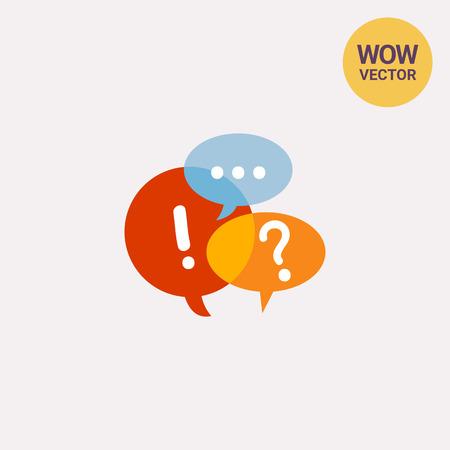 debating: Speech Bubbles Icon Illustration