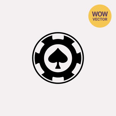 Spade poker chip casino icon