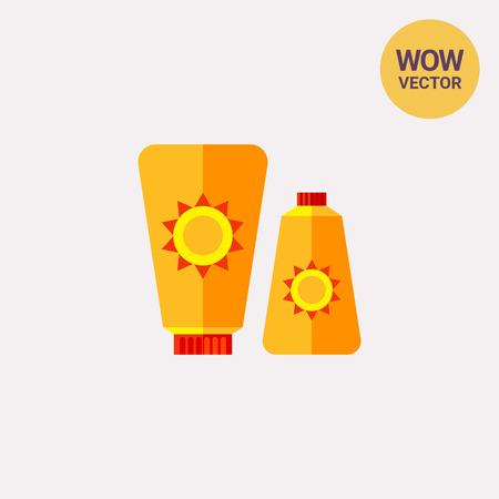 sunblock: Sunblock Cream Icon Illustration