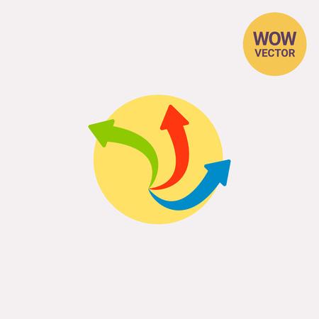Three Arrows Sign Vector Icon Illustration