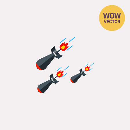 Three Falling Missiles Icon