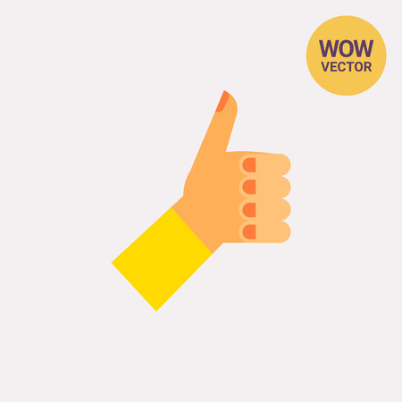 puños cerrados: Pulgar arriba icono de vector Vectores