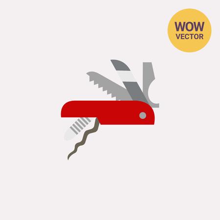 temperino: Icona vettoriale svizzero coltello coltello