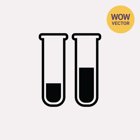 a solution tube: Test tubes icon