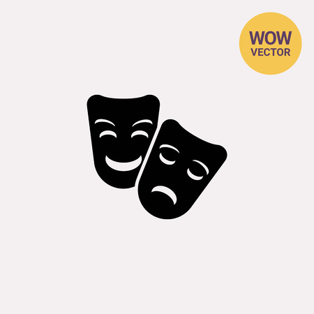 theatrical performance: Theater masks icon