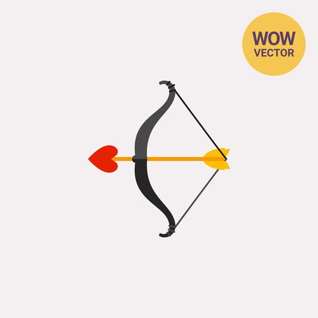 Arrow with heart in bow icon Illustration