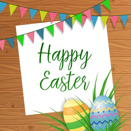 happy: Happy Easter lettering with decoration