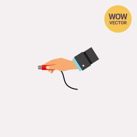 USB Plug Insert Icon Illustration