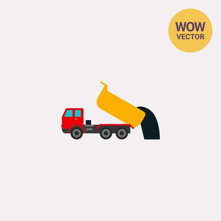 dump body: Unloading dump truck icon