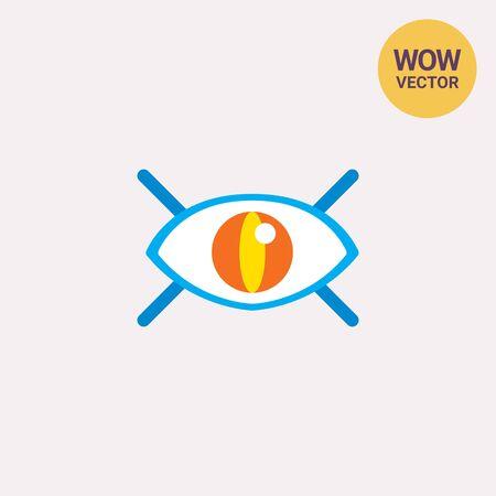 Watching eye icon Illustration