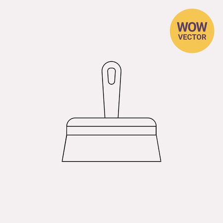 putty knives: Wide Putty Knife Icon Illustration