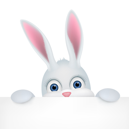 Cute Easter Bunny Peeping Out