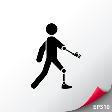Amputated Arm and Leg Icon