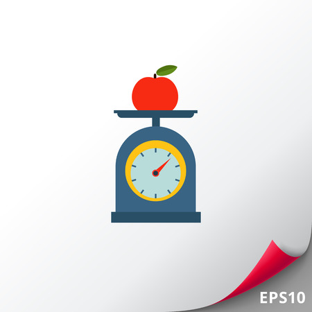 measuring cup: Apple on scales cup