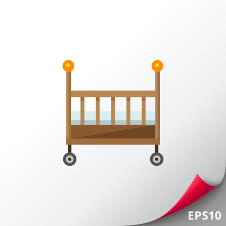 Baby bed icon