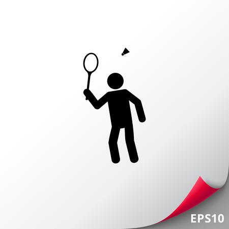 shuttlecock: Badminton Simple Icon