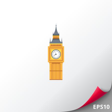 Big Ben icoon Stock Illustratie