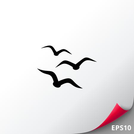 Birds simple icon 矢量图像