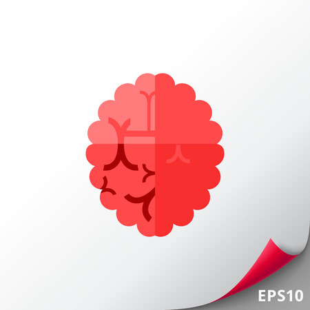 Brain as Alzheimer Disease Concept Icon Illustration