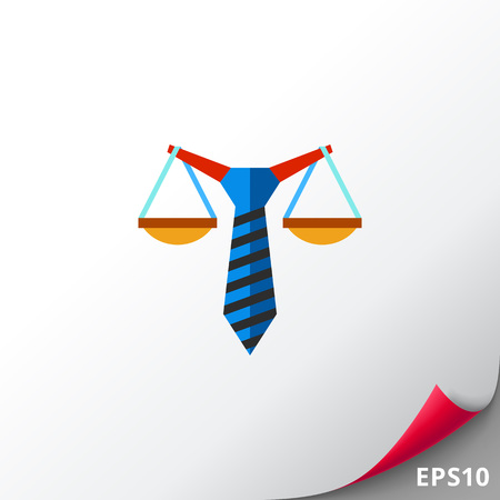 penalty: Business Law Concept Flat Icon