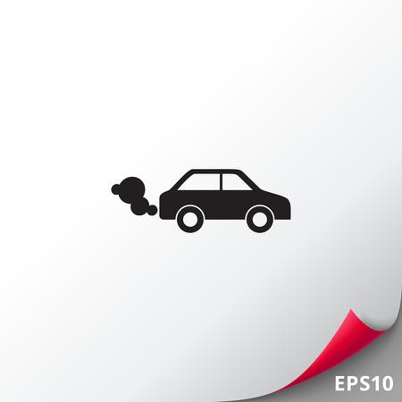 Car emitting exhaust fumes