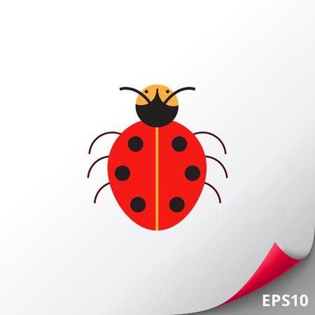 feeler: Cartoon ladybird icon