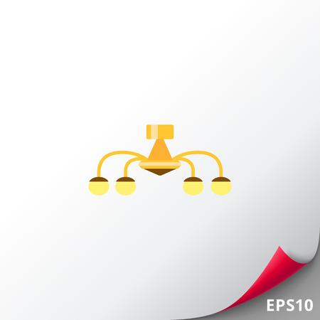 plafond: Chandelier icon Illustration
