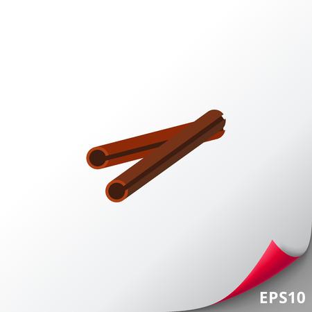 Cinnamon stick icon Illustration