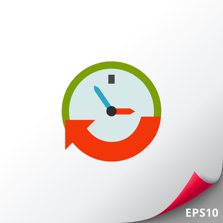 Clock Showing Time Icon Illustration