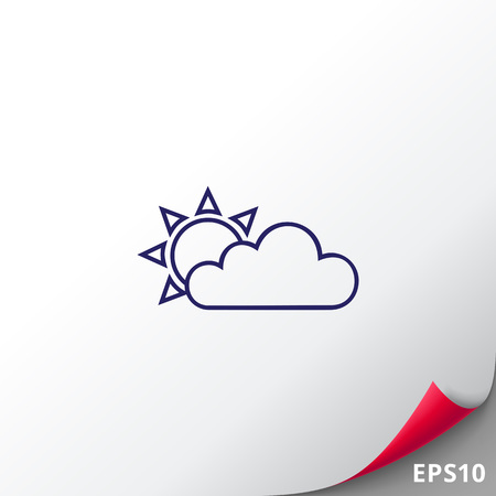 Cloudy with sunny periods Illustration
