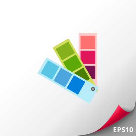 Color Swatch Icon Illustration
