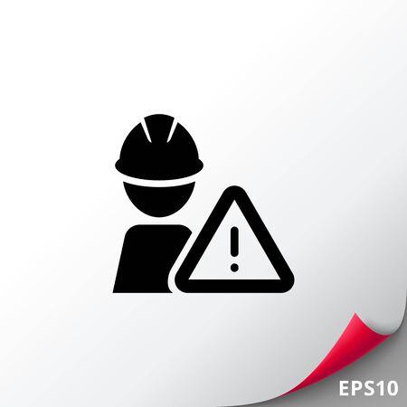 Construction warning sign