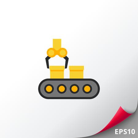 Conveyor belt with industrial robot