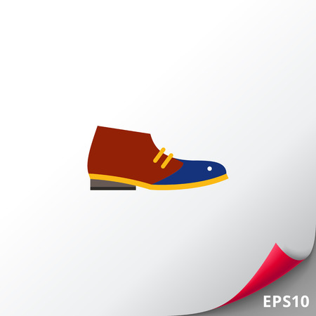 Desert Boot Icon Illustration