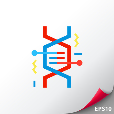 DNA Fragment as Genetics Concept Icon Illustration