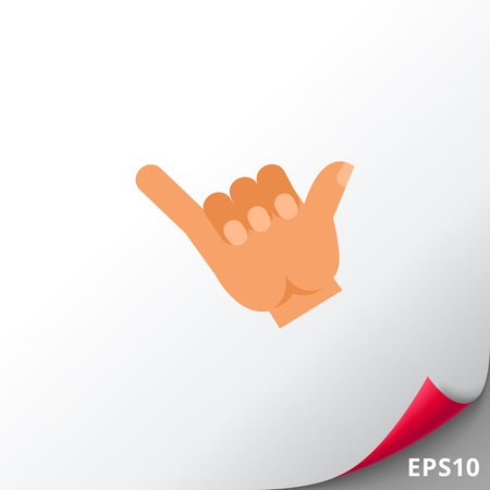 Illustration of right hand showing drink gesture. Hand gesture, drinking, fingers. Drinking concept. Can be used for topics like hand gesture, drinking, nonverbal communication