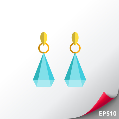 Icon of earrings with gemstones