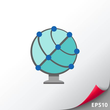 Icono de globo terráqueo esquemática Foto de archivo