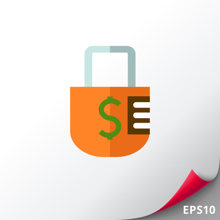 Icon of padlock with dollar sign