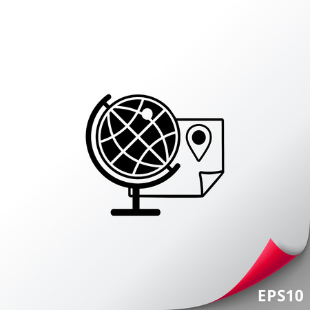 Geography simple icon Illustration
