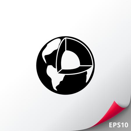 globe logo: Geology simple icon