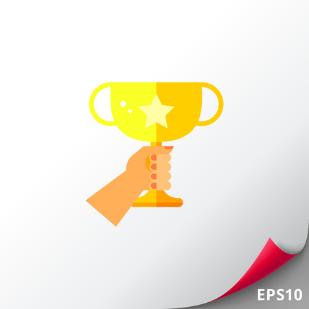 Golden Winner Cup Icon Illustration