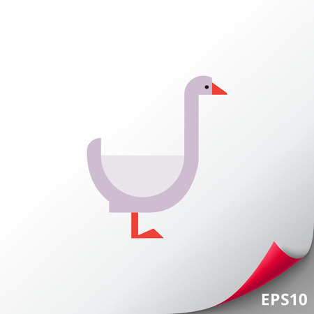 Goose icon Illustration