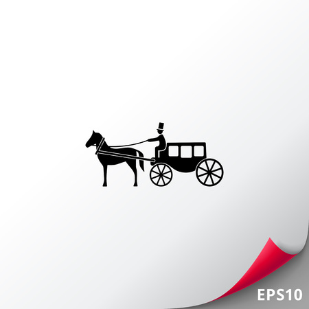Horse Coach Icon Illustration