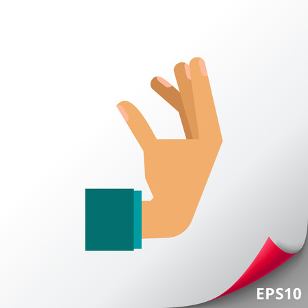 Icona della mano umana Vettoriali