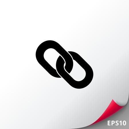 hyperlink: Hyperlink simple icon Illustration