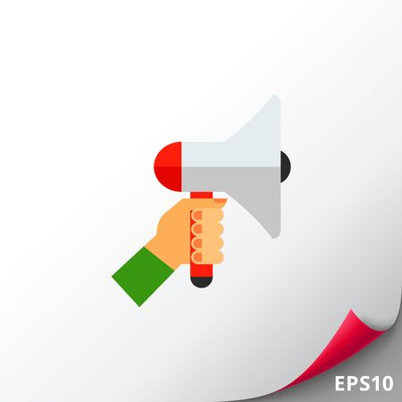 Loudspeaker as Promotion Concept Icon