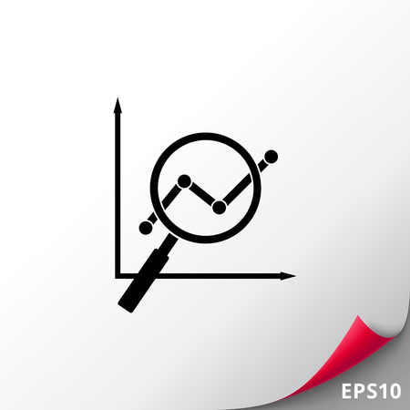 Loupe Showing Graph as SEO Concept Icon Illustration